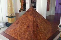 Burl Veneer Pyramid
