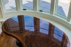Curved Burl Veneer Table Top
