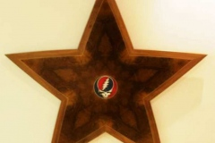 Star shaped Steal Your Face wall hanging